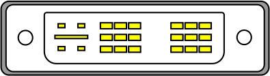 внешний вид DVI-I без поддержки режима DUAL LINK