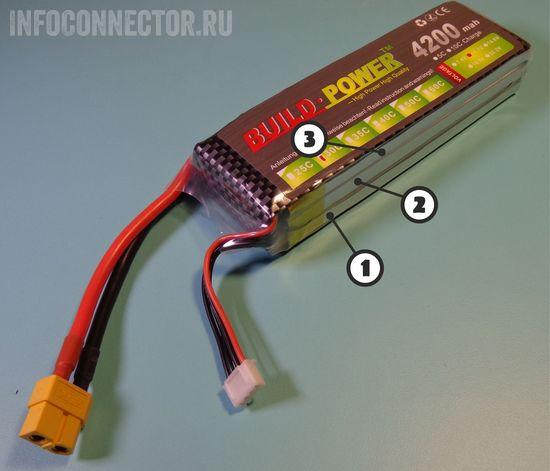 составные части LiPo аккумулятора