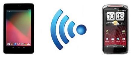 Создать точку доступа WIFI на телефоне и раздавать интернет.